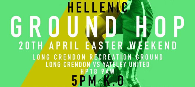 Ground Hop Day 2019 – 20th April – 5pm K.O.